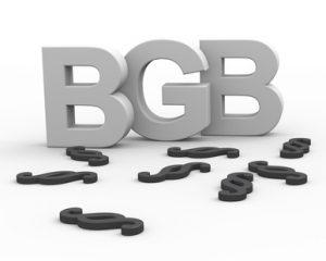 BGB Buchstaben mit Paragrapf