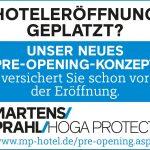 Brandneu: Die PRE-OPENING Versicherung für Hotels von Martens & Prahl
